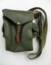 """MILITARY SURPLUS 5 MAG/AMMO POUCH, MEASURES 10"""" x 11"""" x 2"""", CANVAS & LEATHER!!!"""