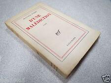 D UNE MALEDICTION JEANNINE WORMS ESSAI NRF GALLIMARD 1963 *