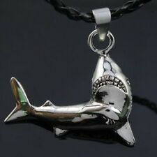"""Silver Shark Wild Life Pewter Pendant with 20"""" Choker Necklace PP#211"""