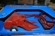 1/16 Hesston pull type forage harvester w/ 2 heads Ertl, new in box hard to find