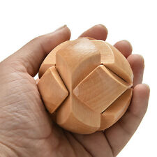 Wooden Football Lock Educational Puzzle Brain Teaser Removing Assemb Kid Toy WB