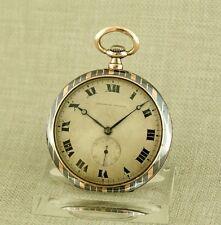 TAVANNES niello Silber Gold Taschenuhr Uhr Herren Uhren silver watch Tulasilber