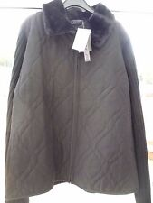 Ladies Designer Large Black Zip Up Jacket With Faux Fur Collar From Ross in USA!