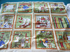 Quilt Fabric Book Panel J Wecker Frisch TINY TAILORS Cotton NEW Frogs Birds Sew