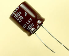 12pc Nippon  LXV 270uF 100v 105c Radial Electrolytic TV Audio Capacitor 270mfd