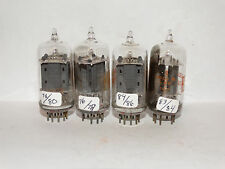 4 x 12au7A/ecc82 RCA Tubes *CLEAR Top*D Getter *Tested TV-7*