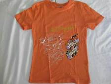 ED HARDY girls kids size 10 orange heart rhinestones crystals t-shirt tee cotton