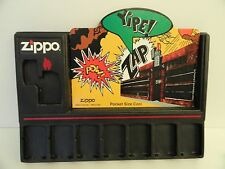 New Zippo Yipe! Zap Pow Display Holder and Card Set Holds 8 Lighters  (1996)