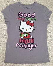 (see size info) HELLO KITTY GOOD THINGS COME IN SMALL PACKAGES TEE/TOP Slim-Fit