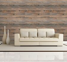 Horizontal Brown Vintage and Retro Wood Textured Paneling - Wall Mural- 66x96