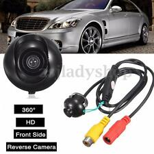 360° Waterproof Front Side Reverse Backup Car Rear View Camera Parking Color Kit