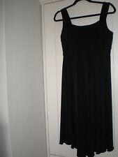 "WOMEN'S BLACK EVENING DRESS (ENFOCUS STUDIO) SIZE 10 EURO 38 WAIST 26/27"""