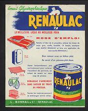 """BEGLES (33) USINE de PEINTURE / EMAIL GLYCEROPHTALIQUE """"RENAULAC / L. BONNAL"""""""