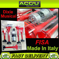 12v Car Van 117dB Five Tones Dixie Musical Air Horn Kit Made In Italy By FISA