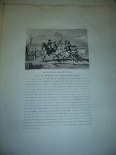 GRAVURE 1810 BATAILLE DE RIVOLI 14 ET 15 JANVIER 1796