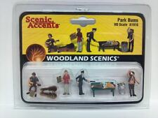 Woodland Scenics Figures People Park Bums Hobo's HO Scale Model Trains  A1916