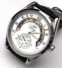 Chrome Steel automatic  wristwatch,mens skeleton wrist watch open back. 7