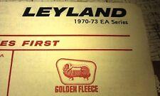 1970 - 1973 LEYLAND EA VAN  -  GOLDEN FLEECE Australia LUBE Chart