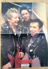 GREEN DAY laughing in leather Centerfold magazine POSTER  17x11 inches