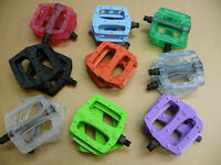 "Coloured Pedals BMX MTB Mountain Bike 1/2"" & 9/16"" Bike Cycle"