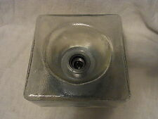 Mid Century 60´s Ice Glass Wall or Flush Mount Lamp #