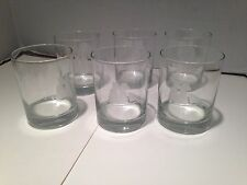 VINTAGE ETCHED CUTTY SARK SCOTTS WHISKEY GLASSES 6 (T1)