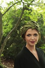 Olive Green FASCINATOR HEADPIECE Hat bridesmaid headband FOLK Anna Chocola