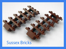 Lego - 2 x Reddish Brown Staircase Stairs - 7x4x6 Steps 30134 Brand New Pieces