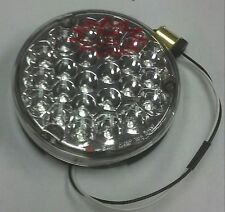 "KENWORTH 24 RED CLEAR LED 4"" ROUND SEALED BACK OF SLEEPER WORK LIGHT  GGA 76153"