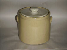 "VINTAGE MC COY 8"" YELLOW SPECKLED COOKIE JAR POT W WHITE SPECKLED LID 1420 HEAVY"