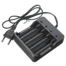 4 Slots Battery Charger for 18650 Rechargeable Li-Ion Battery EU Plug
