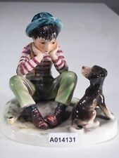 +*A014131 Goebel  Archivmuster N.Rockwell Figurines Boy with Dog, Rock208, TMK4