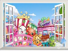 Shopkins 3D Window Wall Decals Kids Nursery Girl Deocr Gift