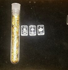 #52.  3 1gram silver bar and 1of  my big viles of gold leaf flake! ! $! $