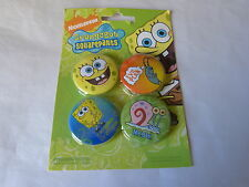 BOB L'EPONGE / SPONGEBOB - Lot de 4 badges !!!!!!!!!!!!