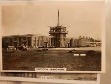 early 20th century trade card  CROYDON AERODROME CONTROL TOWER ATC AIRCRAFT