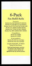 6-pack of Fax Refill Rolls for Brother Fax 727 728 780 816 817 817S 827 827S 960