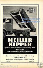 Meiller Kipper Rekame von 1951 Lastwagen LKW München Maschinenfabrik ad (D)