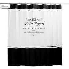 Bain Royal Paris Elegance Collection Bathroom Shower Curtain Polyester Hooks
