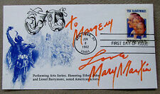 Mary Martin Signed 1982 FDC envelope Peter Pan South Pacific Sound of Music COA
