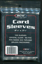 100 ACEO ATC Clear Plastic Protective Sleeves