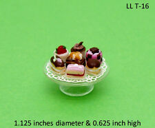 DESSERT TRAY ASSORTED 1/12 Scale Dollhouse Miniatures Kitchen Party Cake