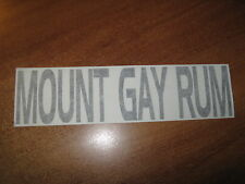 MOUNT GAY RUM - VINYL STICKER - IN BLACK - NEW