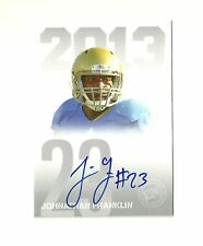 2013 Press Pass Autographs Silver #JF Johnathan Franklin Green Bay Packers UCLA