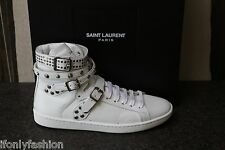 NIB AUTHENTIC YSL SAINT LAURENT PARIS FASHION HIGH TOP SNEAKERS STUDS Shoes 39