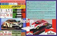 ANEXO DECAL 1/43 LANCIA STRATOS HF A.BALLESTRIERI TOUR DE CORSE 1974 MARLBO (04)