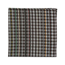 Paul Smith Handkerchief- Grey Signature Checked Multi Stripe Handkie/Square