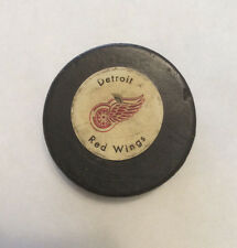 Vintage 1970's Detroit Red Wings Hockey Puck Rawlings Canada Official