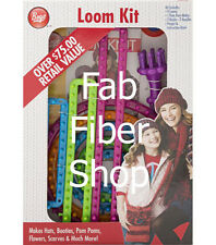 Boye 9 Looms + Pom Pom Assorted Loom Kit 5 Round 1 Specialty 3 Long Looms + More