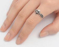 Silver Skull Ring Sterling Silver 925 Best Deal Plain Halloween Jewelry Size 8